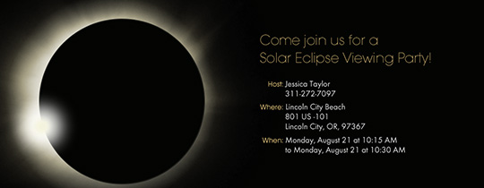 Eclipse Party Invitation