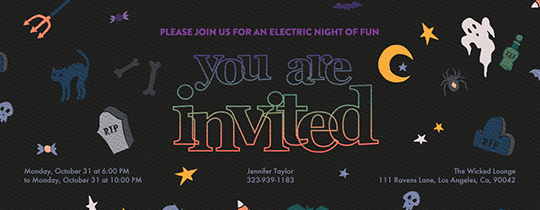 Spooky Characters Invitation