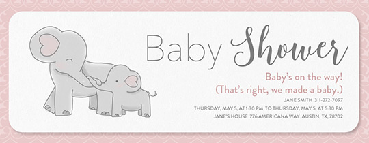 Free baby shower invitations evite elephant baby shower invitation stopboris Images