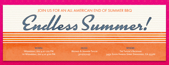 Endless Summer Invitation