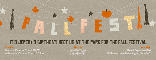 Fall Celebration Invitation
