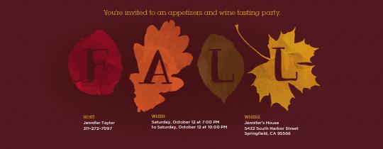 Fall Foliage Invitation