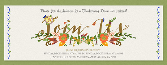 Free Online Thanksgiving Dinner Invitations Evite