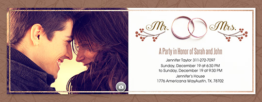 Fall Wedding Band Invitation Free
