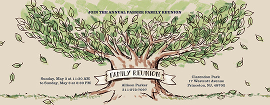 Family Tree Reunion Invitation  Family Reunion Flyer