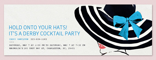 Fascinator Invitation