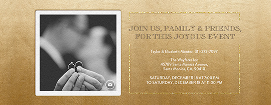 Free engagement party invitations evite festive gold metallic invitation stopboris Choice Image