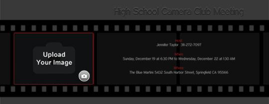 Filmstrip Invitation