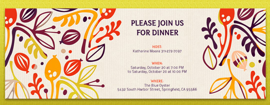 Floral Fall Invitation