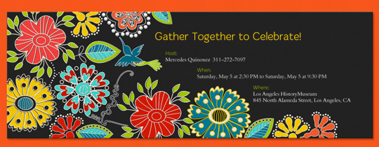 Folklorico Invitation