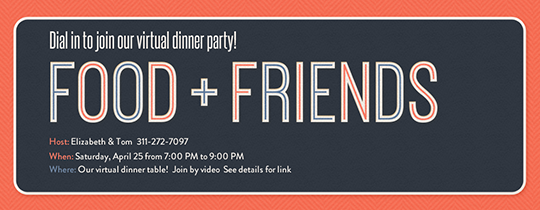 Food Friends Invitation