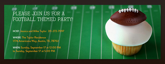 Football Cupcake Invitation