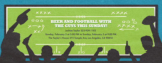 Football Fans Invitation