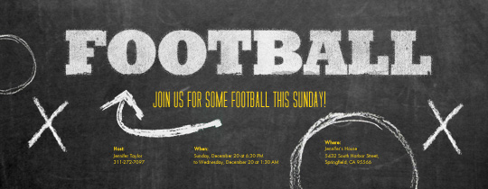Football Plays Invitation