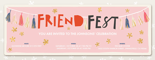 Friend Fest Invitation