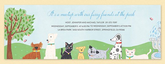Free pet party animal themed online invitations evite furry hangout invitation filmwisefo
