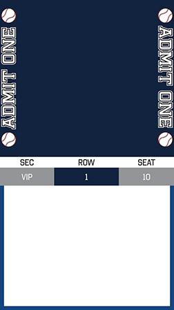 Free Baseball Invitations Ticket