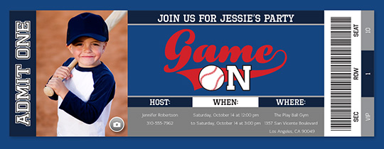 Game on Baseball Invitation
