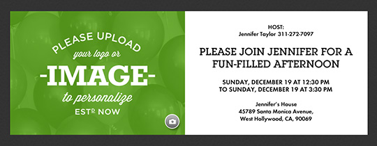 General Design Your Own Invitation