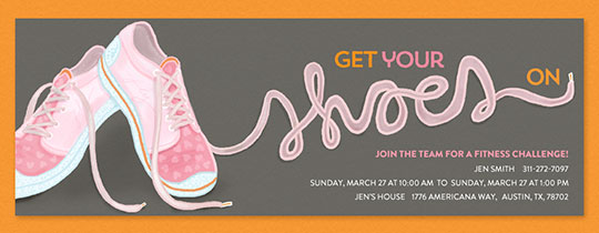 Get Your Shoes On Invitation