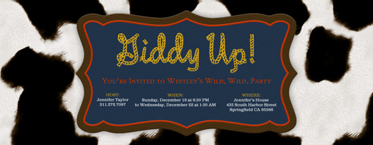 Giddy Up Invitation