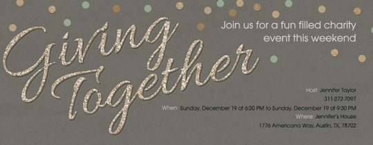 Give Together Invitation