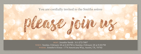 Glitter Join Us Invitation