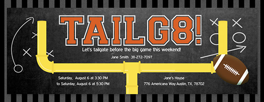 Goal Post Tailgate Invitation
