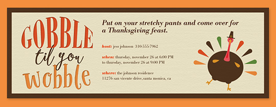 online thanksgiving dinner invitations evite com