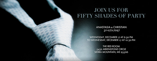 Grey Necktie Invitation