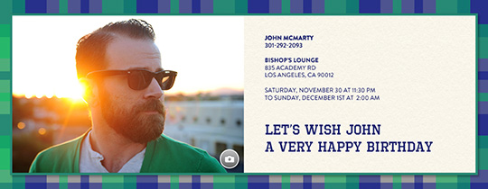 Guy in Plaid Invitation