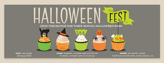 Halloween Cupcakes Invitation