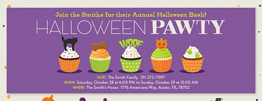 Halloween Pet Cakes Invitation