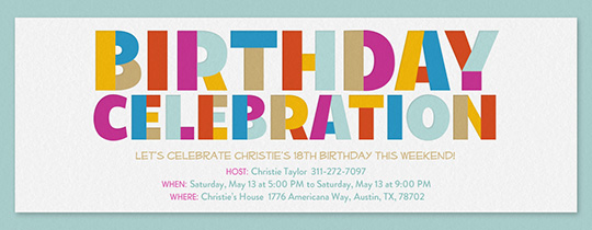Happiest Celebration Invitation