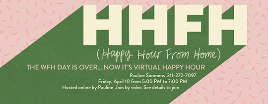 Happy Hour From Home Invitation