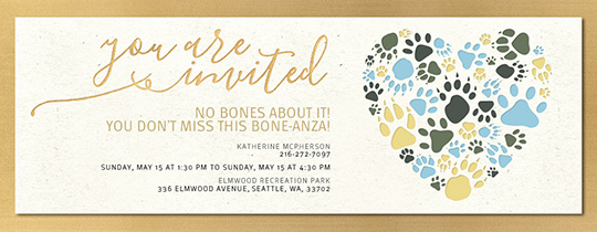 Heart of Paws Invitation