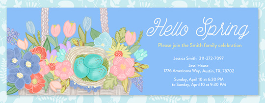 Hello Spring Invitation