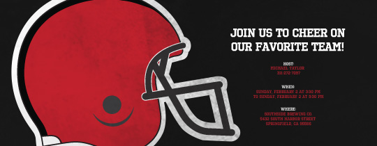 Helmet Red/Black Invitation