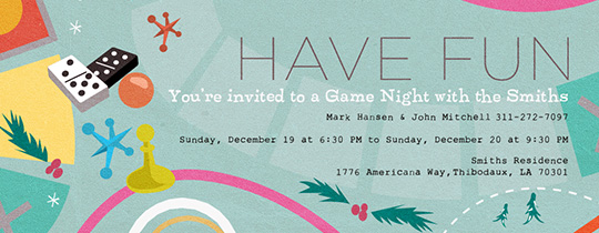 Free Game Night Invitations Evite