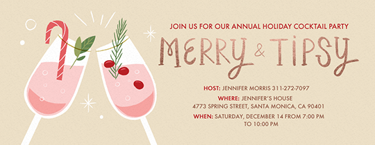 Holiday Merry and Tipsy Invitation