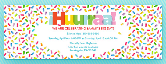 Hooray Sprinkles Invitation