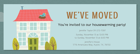 Free Housewarming Party Invitations
