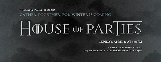 House of Parties Invitation
