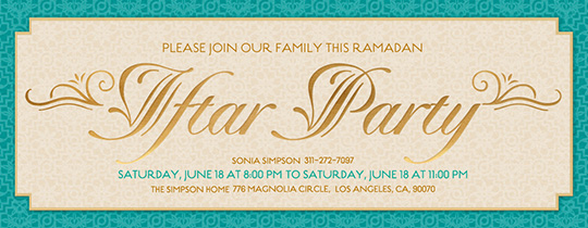 Free online ramadan invitations evite iftar party arabesque invitation stopboris Gallery