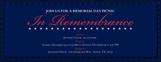 In Remembrance Invitation