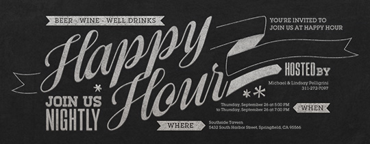 Free Happy Hour Online Invitations Evite