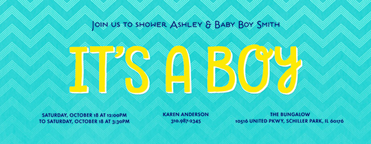 It's a Boy Invitation