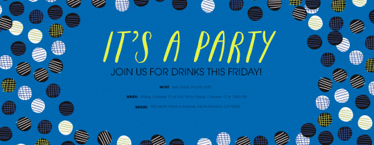 It's a Party Blue Invitation