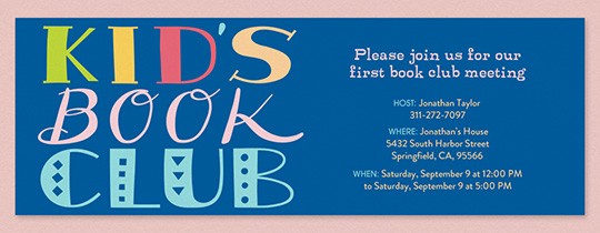 Join a Book Club Invitation