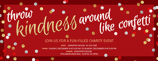 Kindness Confetti Holiday Invitation